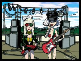 Daria and Jane as Lady Gaga by Christo-LHiver