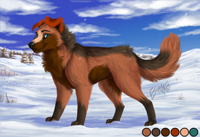 Reference Sheet: Estuko by Wolfvane14