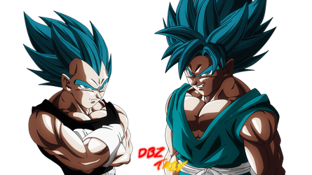 Goku and Vegeta, Rivals for all eternity. by DBZTrev