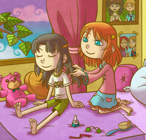 Penny and Annie by Liralicia
