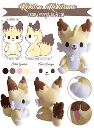 TPS: Kekitsu Cake Fox Plush by MoogleGurl