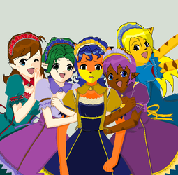 All girls of games by ANGE2NOIR160