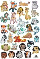 Bunch of Animal Magnets by DolphyDolphiana