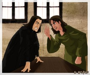 Sirius and Snape at 12 GP by Harry-Potter-Spain