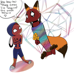 Spider bun and Foxpool by Lucky13spirits