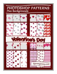 Photoshop Valentine's Day Patterns + Backgrounds by ibjennyjenny