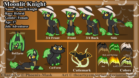 Commission: Moonlit Knight -Reference Sheet by TheArtsyEmporium