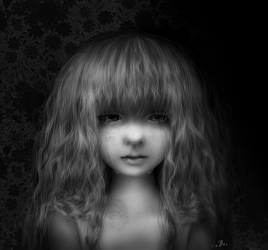Crying doll - digital painting with video by ximbixill