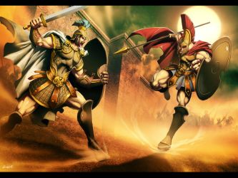 Hector vs Achilles by GENZOMAN