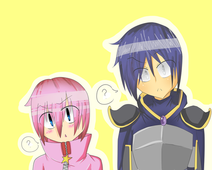 Kirby and Metaknight are Confused. by kirbygirl20