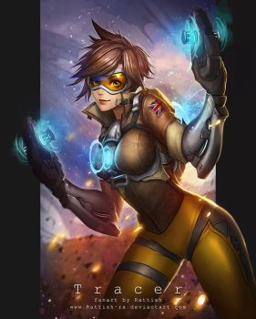 Tracer Overwatch Fanart by Rattish-ra