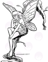 Quick Sketch: Silver Fairy by avimHarZ