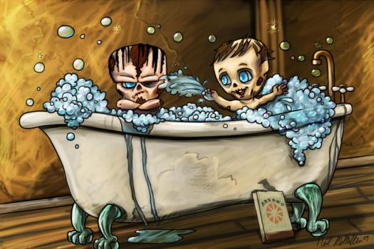 Fallout 3 Ghoul Babies by Neillustrations