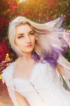 Silver and Purple Ombre Hair by Firefly-Path