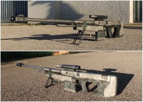 Real Life Halo 3 Sniper rifle - SRS99D-S2 AM by FredProps