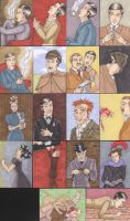 Sherlock Holmes Cult Stuff Sketch Cards by angelacapel