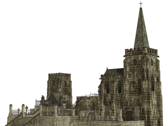 Gothic Church PNG Stock by Roy3D
