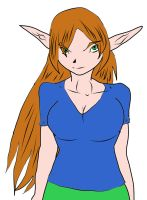 Elven long hair by fighterxaos