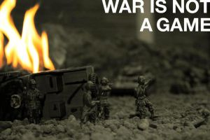 'War is not a game' by SkinnyJeanPunk