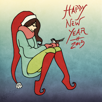 happy new year . 2015 . by Kiki-Hiraku