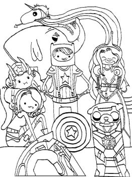 Avenger Time Line Art / Colouring Page by Petite-Gris