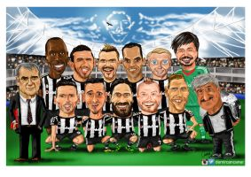 besiktas team portrait cartoon 15_16 by canerator