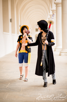 You're not serious, are you?| Law x Luffy XX by MatterOfHeart