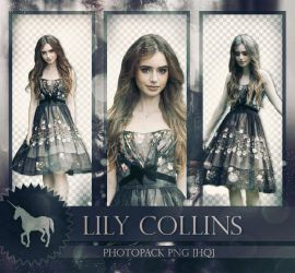 Photopack PNG: Lily Collins by Unicorn07