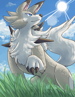 lycanroc by Peegeray