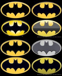 Batman Product logo Prototypes by DanielMurrayART