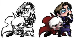 Chibi - Dante + Leon by ElectroCereal