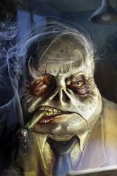 Old dead smoking frog man by JeffStahl