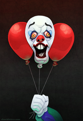 Pennywise the Clown by WonderDookie