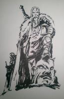 Troll Hunter Vikings - Brushpen by hesir