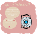 Wheatley: be my valentine by BunChum