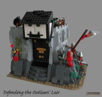 Defending the Outlaws' Lair by Bricknave