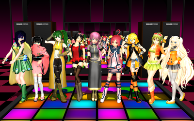 MMD - VOCALO SuperStars - Girls and Peace by emmystar