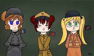 APH Nyotalia War uniforms by united-drawer