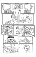 The End Issue 3 - 'Must Play' Page 1 Pencils by thescarletspider