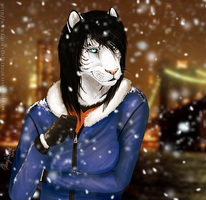 Snowing on Tigeress by casualGEE