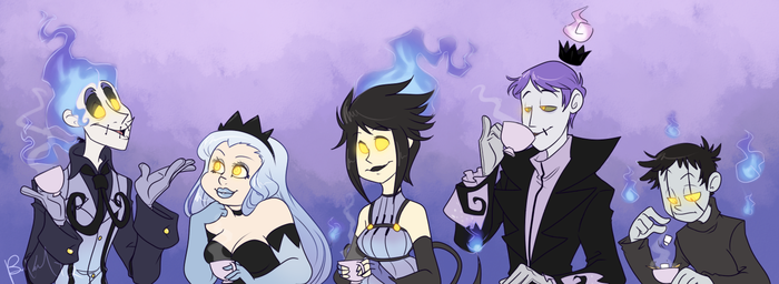 Ghostly Tea Party by BechnoKid