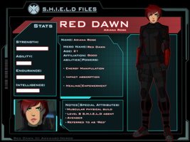 Marvel OC: Red Dawn Profile by Awkward-Nerdd