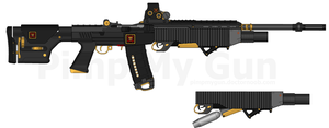 T.I. HBR-290 'Panther' Heavy Battle Rifle by Lord-DracoDraconis