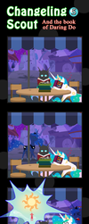 Changeling Scout And The Book Of Daring Do 05 by vavacung