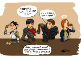 Dragon Age Double Dating by MarcusSmiter
