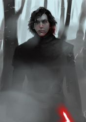 Kylo Ren on Starkiller by kittrose