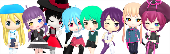 [MMD] UTAU Chibi Downloads by Razz-Pixel