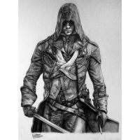 Assassin's Creed: Unity - Arno Dorian Drawing by LethalChris