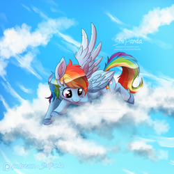 Rainbow Dash in the Clouds by StePandy