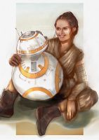 Rey and BB-8 _ Star Wars by kanaliha
